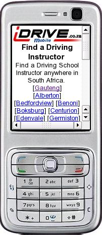 go to www.idrive.co.za/mobile on your phone to find a driving school