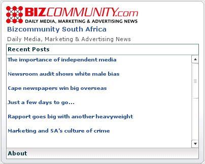 bizzcommunity widget