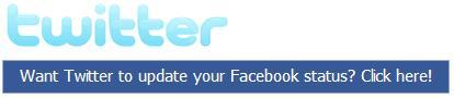 twitter facebook status updated