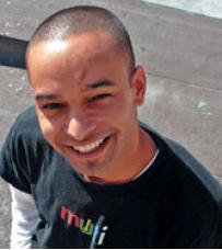 Web AddiCT wearing muti.co.za tshirt