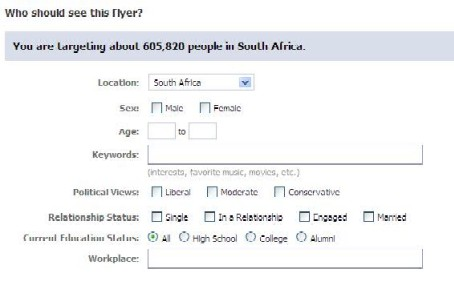 facebook networks size south africa