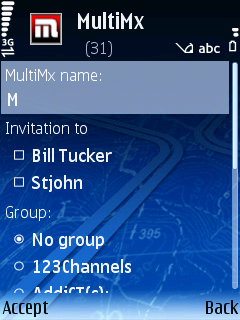 Naming & inviting people to your MXit chat room