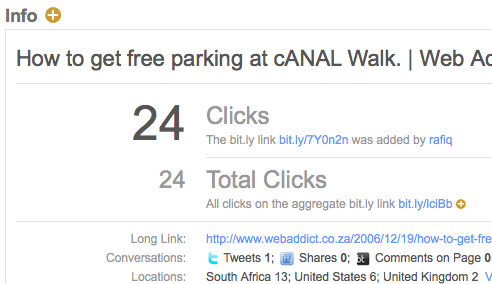 Bit.ly Click Tracking