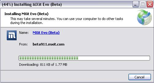 Installing MXit Evo on your Windows PC