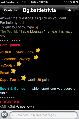 Trivia Chat Rooms