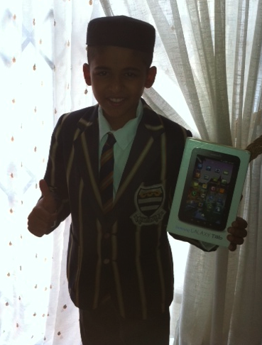 Samsung Galaxy Tab winner from the Free State