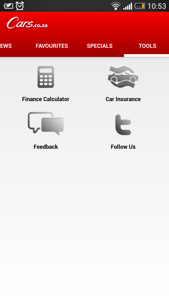 Cars.co.za App Tools
