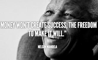 Nelson Mandela Success Quote