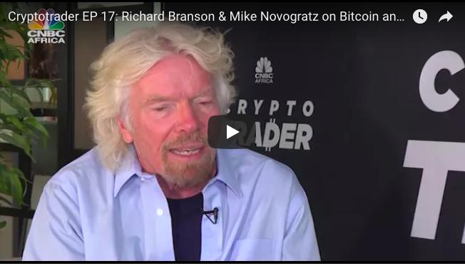 Sir Richard Branson talks Bitcoin on CNBC Africa